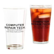 Computer Tech Drinking Glass