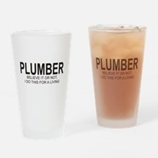 Plumber Drinking Glass