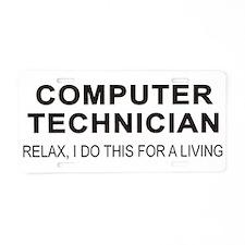 Computer Tech Aluminum License Plate