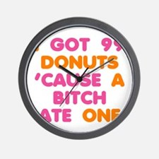 99 Problems Donuts Wall Clock