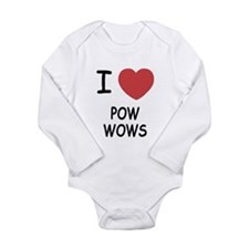 I heart pow wows Long Sleeve Infant Bodysuit