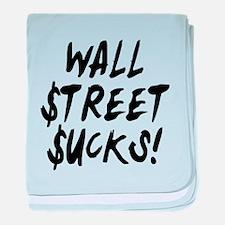 Wall Street Sucks Occupy baby blanket