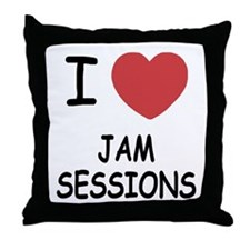 I heart jam sessions Throw Pillow