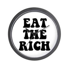 Eat The Rich Occupy Wall Street Protest Wall Clock