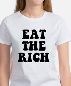 Eat The Rich Occupy Wall Street Protest Women's T-