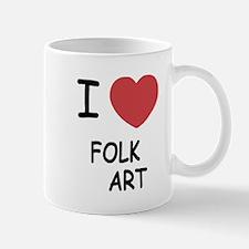 I heart folk art Mug