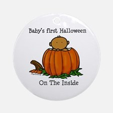 First Halloween inside (med) Ornament (Round)