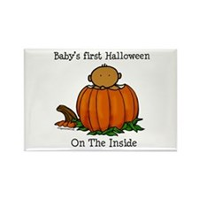 First Halloween inside (med) Rectangle Magnet