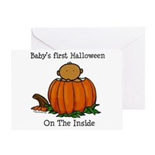 First Halloween inside (med) Greeting Card