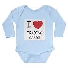 I heart trading cards Long Sleeve Infant Bodysuit