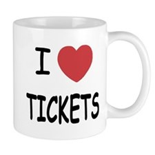 I heart tickets Small Mug