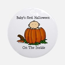 First Halloween inside (lt) Ornament (Round)
