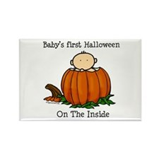 First Halloween inside (lt) Rectangle Magnet