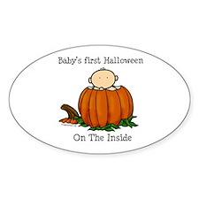 First Halloween inside (lt) Decal