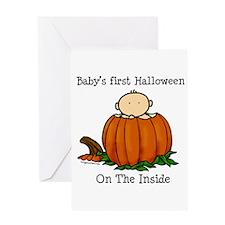 First Halloween inside (lt) Greeting Card