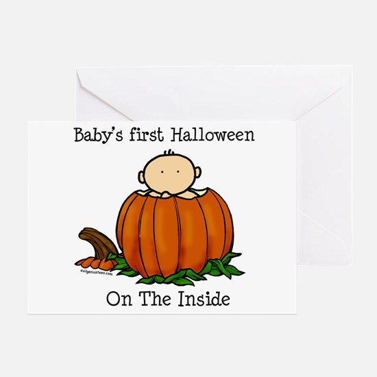 First Halloween inside (lt) Greeting Card