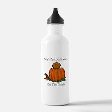 First Halloween inside (drk) Water Bottle