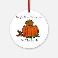 First Halloween inside (drk) Ornament (Round)