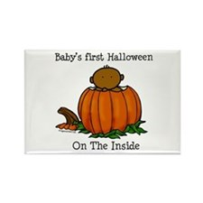 First Halloween inside (drk) Rectangle Magnet