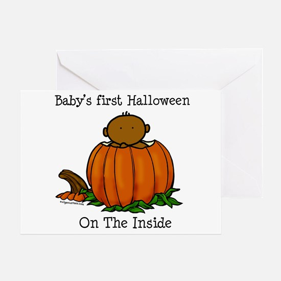 First Halloween inside (drk) Greeting Card