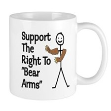 "Support The Right to ""Bear Arms"" Mug"