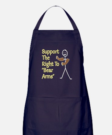 "Support The Right to ""Bear Arms"" Apron (dark)"