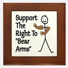 "Support The Right to ""Bear Arms"" Framed Tile"