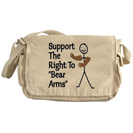 """Support The Right to """"Bear Arms"""" Messenger Bag"""