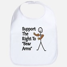 """Support The Right to """"Bear Arms"""" Bib"""