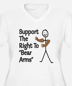 """Support The Right to """"Bear Arms"""" T-Shirt"""