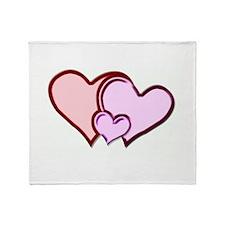 Happy Hearts Maternity Design Throw Blanket