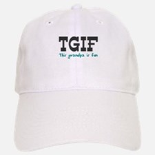 TGIF This Grandpa is Fun Baseball Baseball Cap