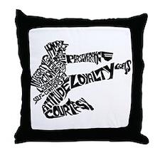 LIFE SKILLS KICKER Throw Pillow