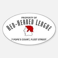 Red-Headed League Sticker (Oval)