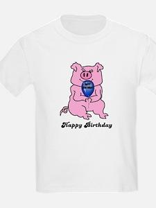 HAPPY BIRTHDAY PINK PIG Kids T-Shirt
