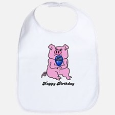 HAPPY BIRTHDAY PINK PIG Bib
