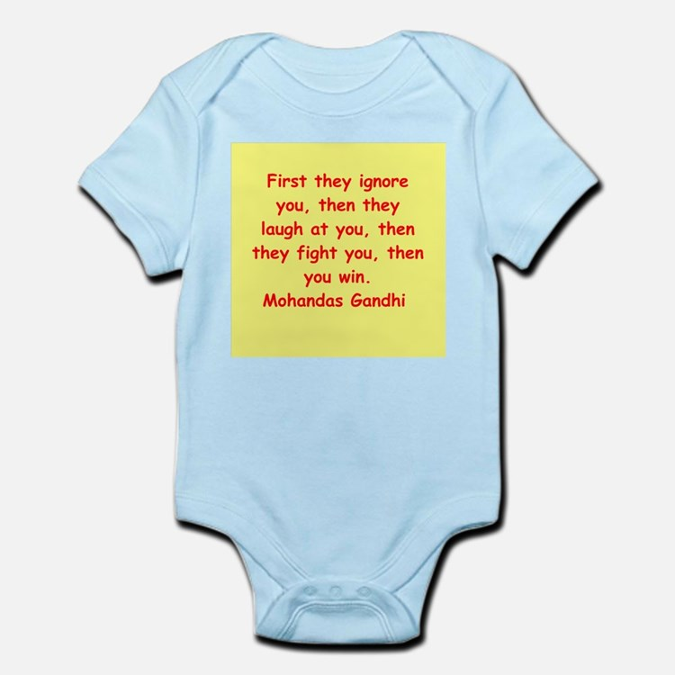 gandhi quote Infant Bodysuit