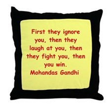 gandhi quote Throw Pillow