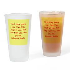 gandhi quote Drinking Glass