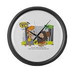 Tarzan MD - Smoking Twigs Large Wall Clock