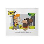 Tarzan MD - Smoking Twigs Throw Blanket