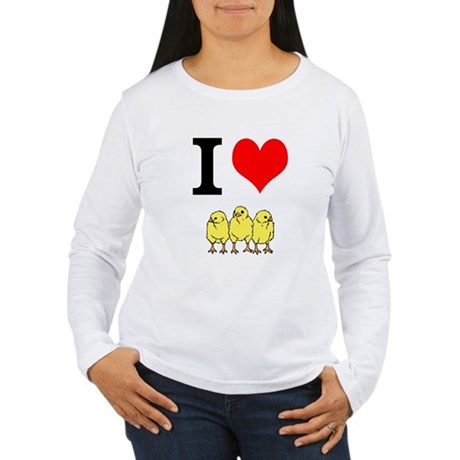 I Heart Chickens Women's Long Sleeve T-Shirt