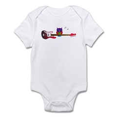 Pink owl with guitar Infant Bodysuit