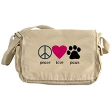 Peace Love Paws Messenger Bag