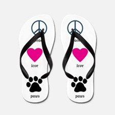 Peace Love Paws Flip Flops