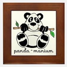 Panda-monium Cartoon Framed Tile