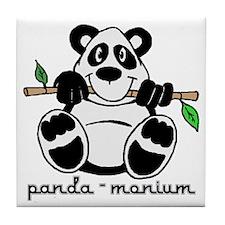 Panda-monium Cartoon Tile Coaster