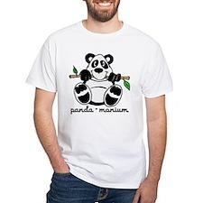 Panda-monium Cartoon White T-Shirt