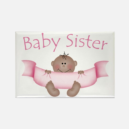 Baby Sister & Ribbon (ethnic) Rectangle Magnet