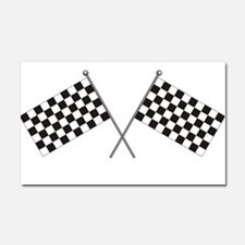Checkered Flag Car Magnet 20 x 12